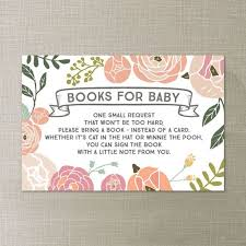 Bring Book Instead Of Card To Baby Shower Bring A Book Instead Of A Card Bring A Book Baby Shower Insert