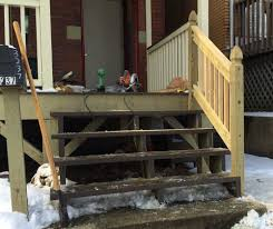 How To Install A Banister How To Build A Handrail For Your Porch Safer Stairs In 3 Hours