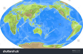 Map Asia Robinson World Map Asia Centered Stock Illustration 16124449