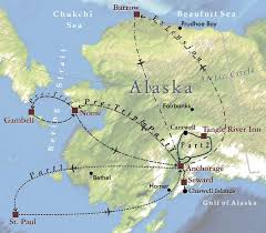 Nome Alaska Map by Mapping The World Siglo Group