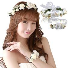 flower girl hair accessories aliexpress buy fast shipping wedding wreath