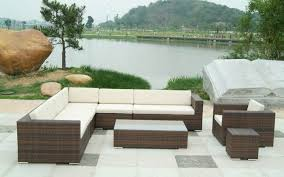 Patio Sectional Sofas Amazing Patio Sectional Wicker Garden Furniture Plastic