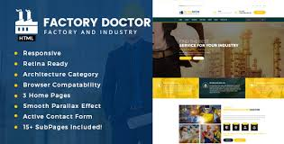 factory doctor factory u0026 industrial business template by tonatheme