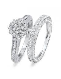 diamond wedding ring sets for plus size bridal sets bridal rings