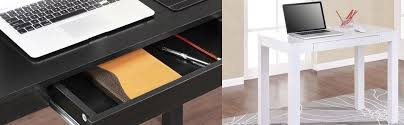 Small Desk With Pull Out Drawer Amazon Com Ameriwood Home Parsons Desk With Drawer Black