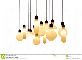 hanging lights isolated on white background royalty free stock