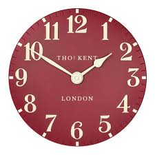 thomas kent clocks wall u0026 mantel clocks red candy thomas kent arabic clock red 12 inch designer red wall clock