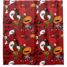 halloween shower curtains zazzle