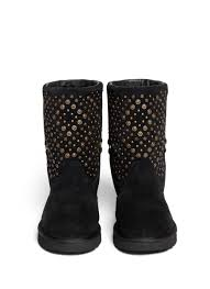 ugg womens eliott boots black ugg elliott studded boots in black lyst