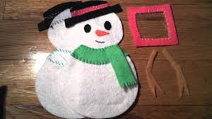 christmas how to make a snowman picture frame tree ornament