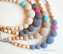 crochet necklace with beads images How to make crocheted beads and crocheted beads necklace free jpg