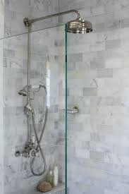 shower carrara marble subway tile shower cleaning tumbled marble