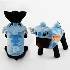 Pet Cat Halloween Costumes Cute Stitch Pet Halloween Costume Dog Winter Warm Clothes Puppy