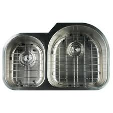 Glacier Bay Undermount Stainless Steel  In Hole Double Basin - Kitchen sink grates