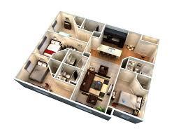 Rivergate Floor Plan 4 Bed 4 Bath Floor Plan B Student Apartments
