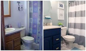 Oak Bathroom Mirrors - navy blue bathroom vanity