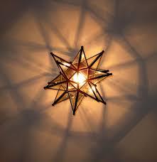 Gold Capiz Chandelier Ideas Wonderful Interior Lights Design With Moravian Star
