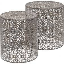 silver side table uk the libra caprio nesting table set on sale at lightplan
