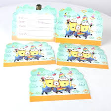 minions baby shower minion birthday party invites kids birthday party decoration
