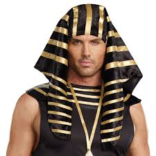 pharaoh headdress mens egyptian costume halloween fancy
