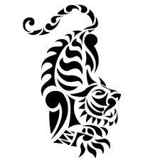 tatto artist tribal tiger design for