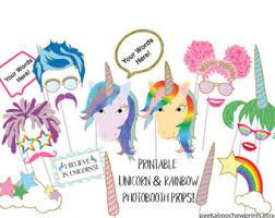 printable hippie photo booth props unicorn birthday photo booth props unicorn party photobooth