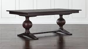 Winnetka Dark Mahogany Rectangular Extendable Dining Table Crate - Extendable dining room table