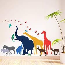 animal wall stickers thirteen safari animal wall stickers new sizes
