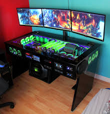 Desk For Pc Gaming I Want Thaaaat 41 Photos Pc Gaming Setup Gaming Setup And