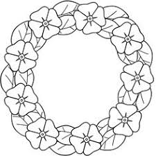 coloring page crafts pinterest poppy wreath wreaths and