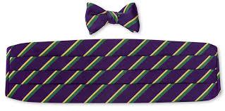 mardi gras bow ties handmade purple mardi gras stripes cummerbund set cb717