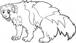 wolverine animal coloring pages wolverine coloring pages
