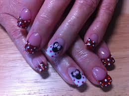minnie mouse acrylic nails nailart nails pinterest disney nails