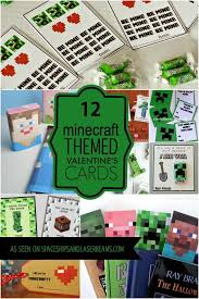 minecraft valentines cards 12 minecraft cards and ideas spaceships and laser beams