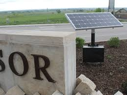 solar cing lights signage lighting sign lighting by greenshine new energy solar