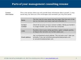 Management Consulting Resume Management Consulting Resume Sample