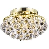 gold flush mount light elegant lighting v9805f14g rc corona 4 light 14 inch gold flush