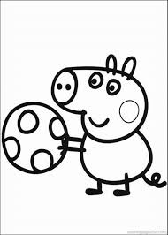 peppa pig coloring pages u2013 birthday printable