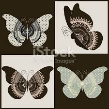 set of four ornamental butterflies stock vector 518205388 istock
