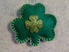 s day 10 green felt shamrock ornaments set of