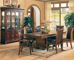 Formal Cherry Dining Room Sets 3635 Formal Dining Room In Cherry By Coaster W Leather Seats