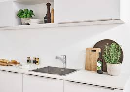faucet com 30306dc0 in supersteel by grohe grohe 30 306 grohe kitchen sink in use