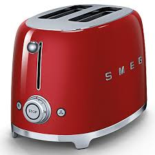 Stainless Toaster 2 Slice Smeg 2 Slice Toaster 6 Browning Levels Self Centering Racks