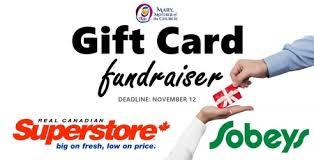 gift card fundraiser superstore sobeys gift card fundraiser deadline nov12 parish