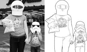 how to make a coloring page from a photo wwwannesphotoshopcomwp