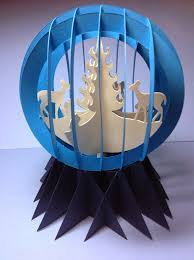 papercrafts and other things paper snow globe sliceform for