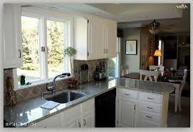 Kitchen Cabinet Island Painted White Kitchen Cabinets Pull Down Faucet Mix Smooth Surface