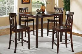 high table with four chairs high dining tables and chairs gray wicker dining chairs