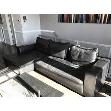 boconcept black mezzo leather sectional couch aptdeco
