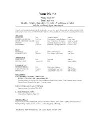 actor resume template this is acting resume builder acting resume template word inside
